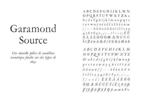 Garamond Source